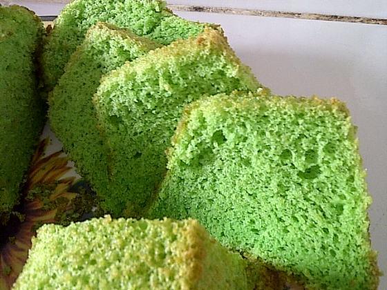 my pandan chiffon cake